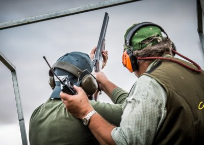 clay pigeon shooting stag party photography