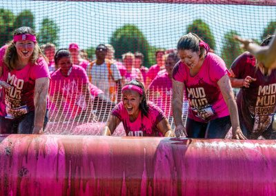 pretty mudder runners in pink