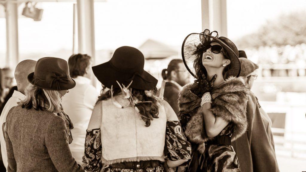 ladies period costume at Goodwood Revival