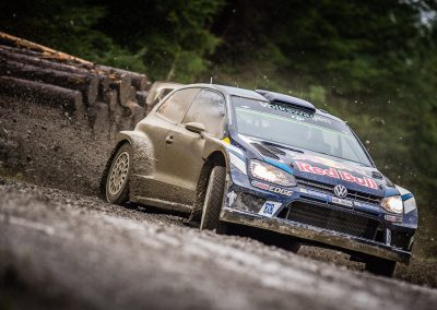 VW Golf WRC rally car in gravel