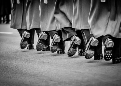 soldiers boots march in step