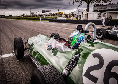 on the start grid at Goodwood