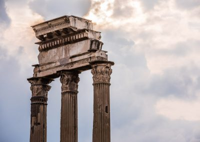 stone columns in ancient Rome