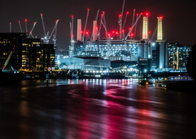 cranes at Battersea Power Station