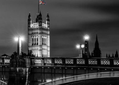 Union flag on Westminster Abbey