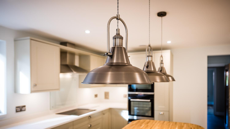 metal kitchen lighting