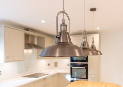 House New Build kitchen lamps