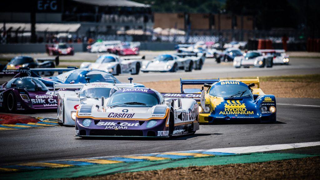 Group C cars through bends