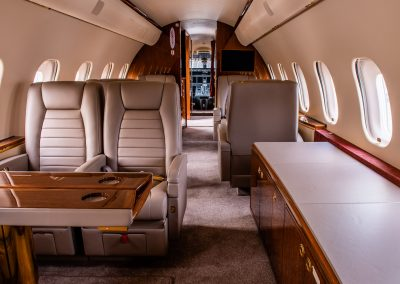 private jet interior editorial image