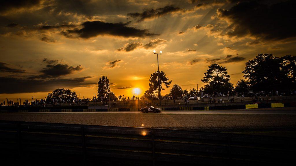 Porsche 911 at sunset