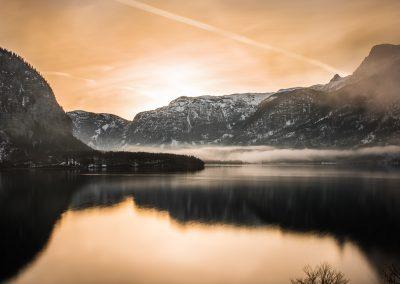 golden light over Hallstatt