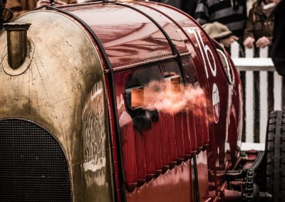 1910 Fiat S76 spiting flames