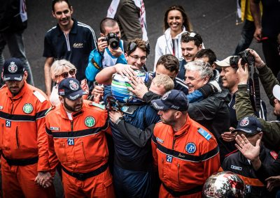 Celebrations with the f1 racing team