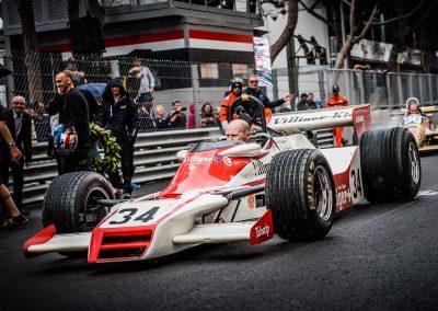 Historic F1 car spins wheels