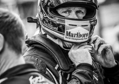 racing driver in helmet