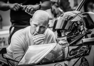racing drivers discuss tactics