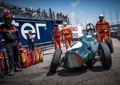 Historic F1 car broken down