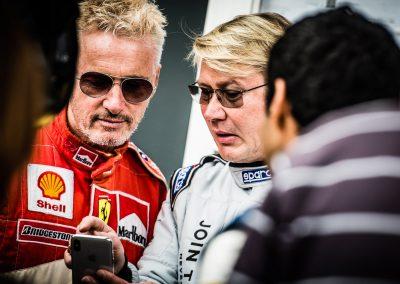 Mika Hakkinen and Eddie Irvine