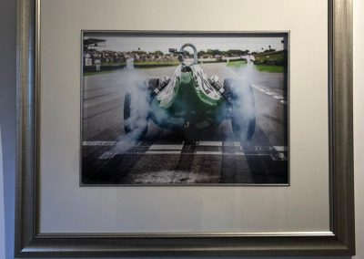 racing car photo print in frame