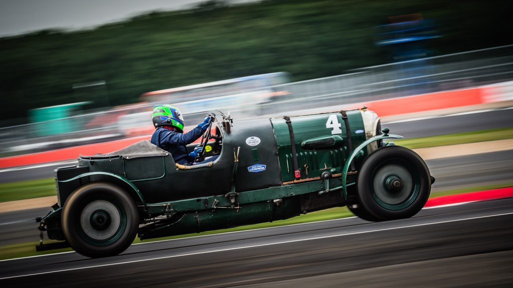 Celebrating Bentley 100 at Silverstone Classic 2019