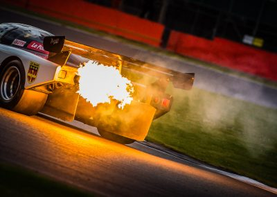 Group C car spits flame