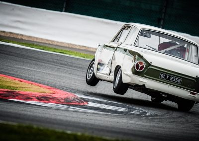 Lotus Cortina at Silverstone Classic