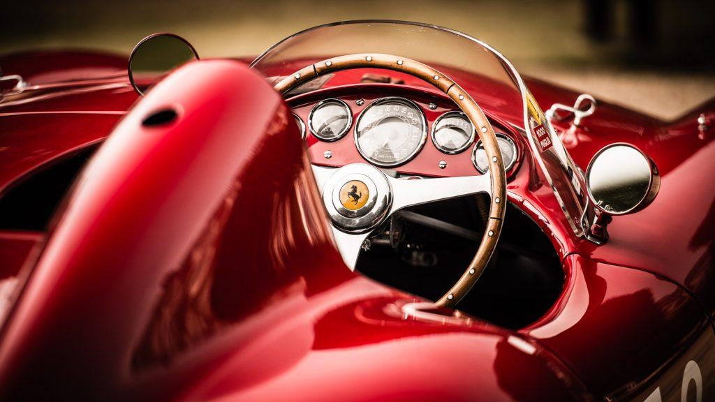 Ferrari steering wheel at Concours of Elegance