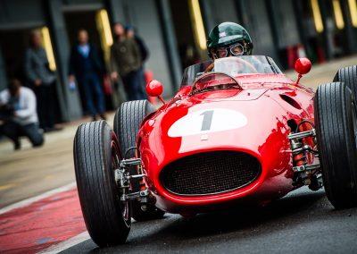 Martin Brundle in classic Ferrari