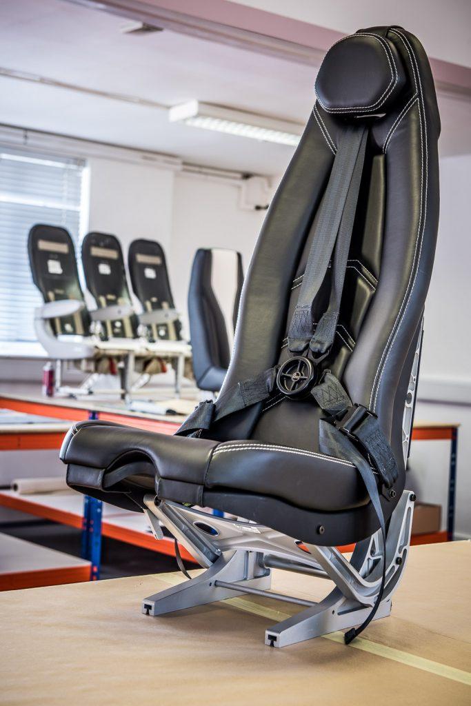 Leather aviation seat restoration