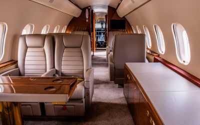 Private Jet Cabin Interior