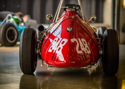 red historic Maserati racing car
