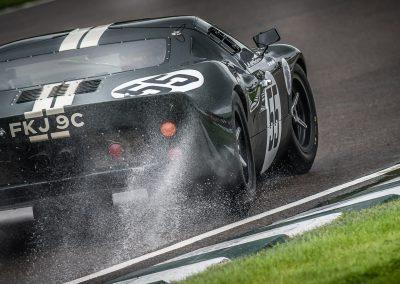 GT40 spray rain on track