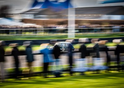 Mini racing car speed blur