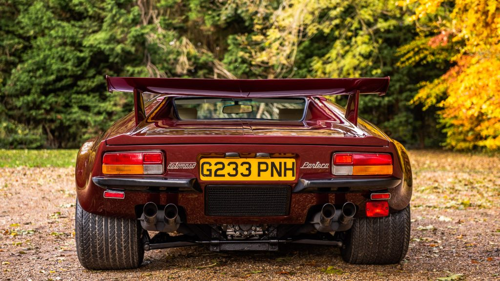 Rear view of De Tomaso Pantera