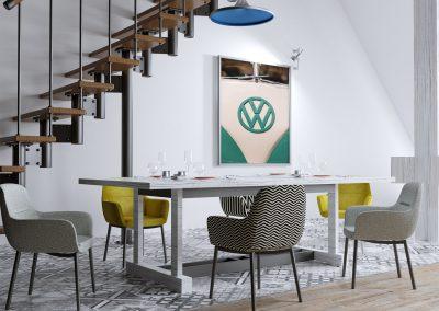 VW photo print in frame