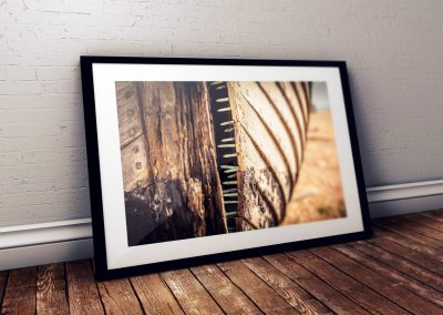 Boat photo print in frame