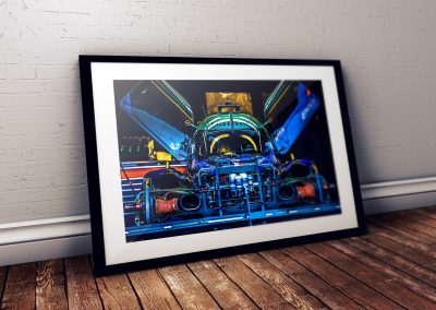 Le Mans car photo print in frame