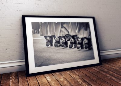 Soldiers Boots photo print in frame