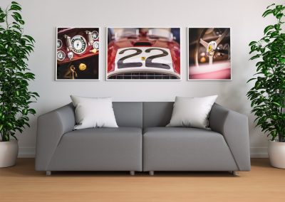 Ferrari photo print in frame
