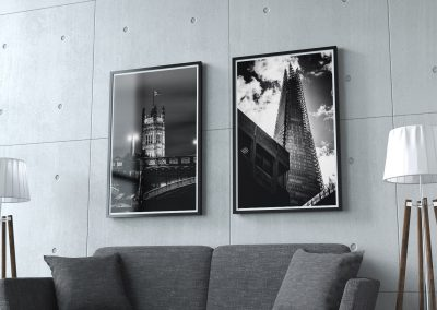 London photo print in frame