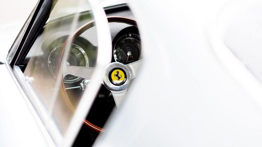 Ferrari steering wheel logo