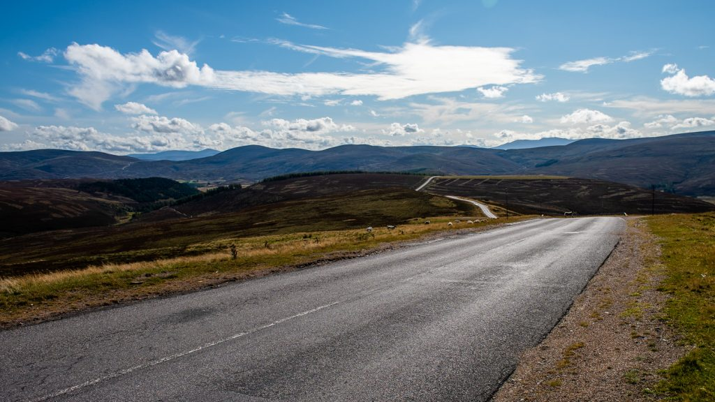 A939 road in Cairngorms