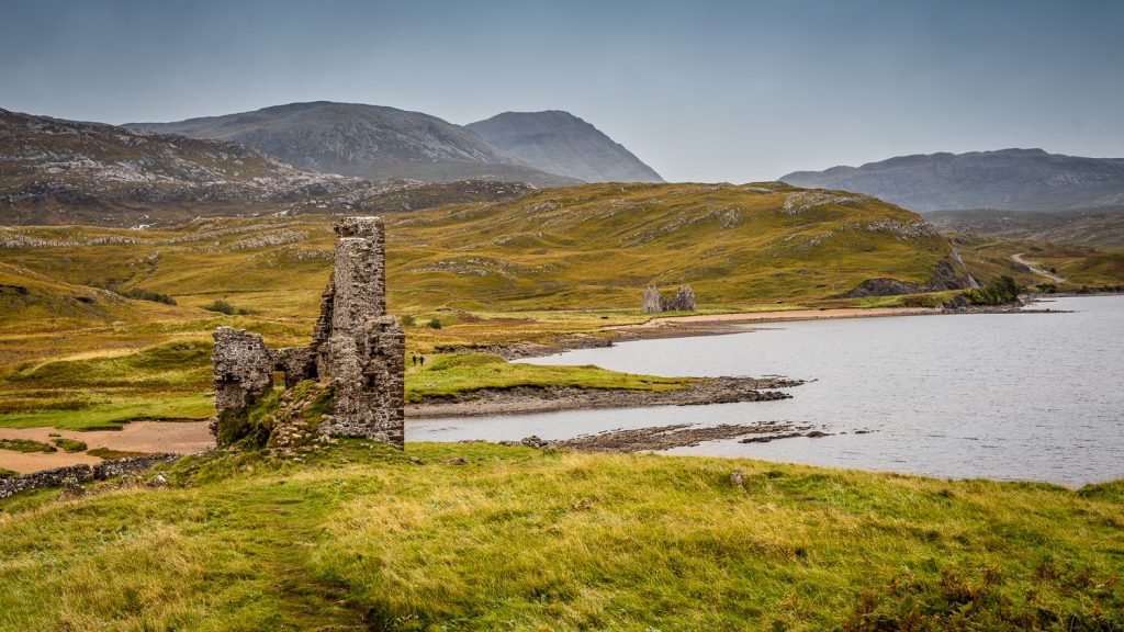 Ardvreck Castle in Scottish Highlands