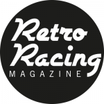 retro racing magazine logo