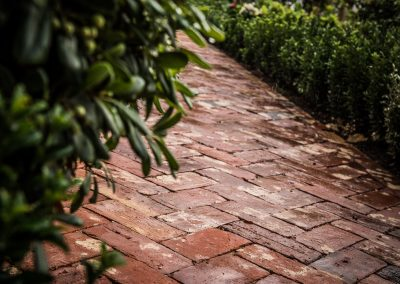 Architectural Photography reclaimed brick path
