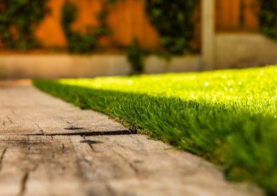 artificial grass close up garden landscaping