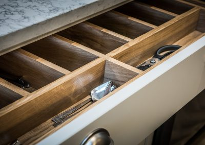 Handmade cabinets and drawers architectural photography