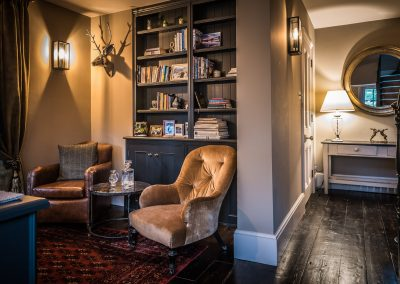 Architecture and Interiors armchairs in the snug