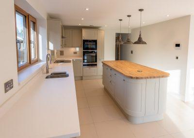 Kitchen island and worktops