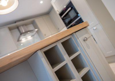 kitchen units inbuilt wine rack